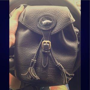 Dooney&Bourke Vintage drawstring leather backpack